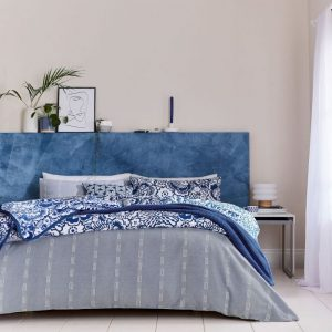Helena Springfield Chambray Duvet Cover Set Blue