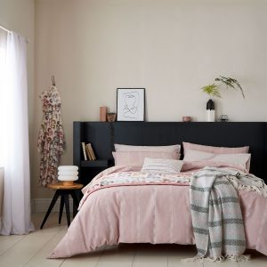 Helena Springfield Chambray Duvet Cover Set blush