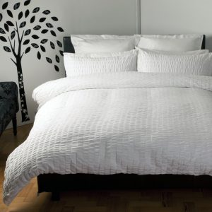 Belledorm Lincoln White Duvet Cover Set