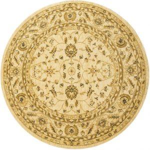 Ziegler Rug, Round, Cream, 160 cm (5′ 3″)