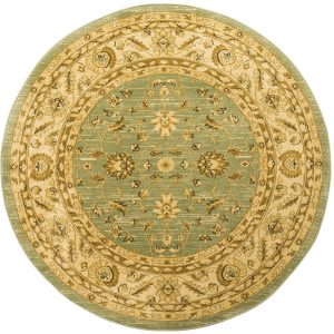 Ziegler Rug, Round, Light Green, 160 cm (5′ 3″)