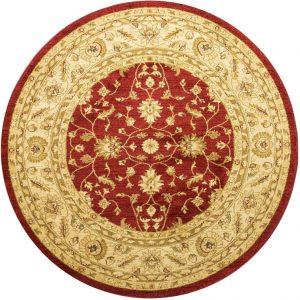 Ziegler Rug, Round, Red, 160 cm (5′ 3″)