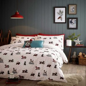 Fat Face Sledgeing Dogs Duvet Cover Set