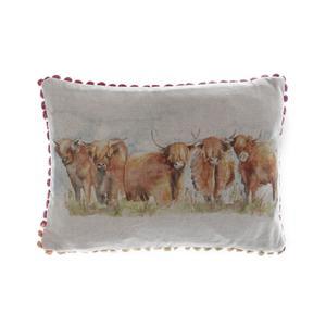 Voyage Highland Cattle Cushion
