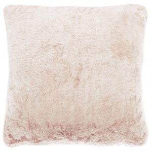 Walton & Co Faux Fur Cushion Blush