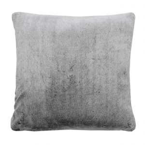 Walton & Co Faux Fur Cushion Charcoal