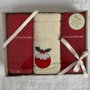 Riggs Boxed Christmas Pudding Tea Towel Set