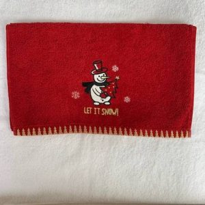 Loomcraft Christmas Hand Towel