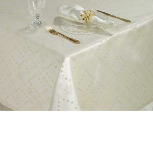 Snowflake Sparkle Tablecloth Gold