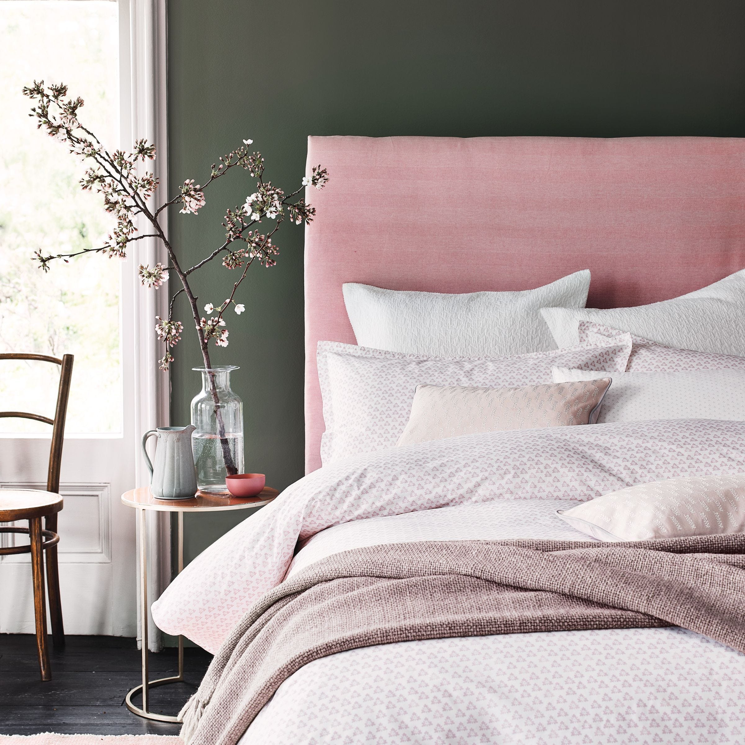Bedeck Murmur Tua Blush Duvet Cover Set