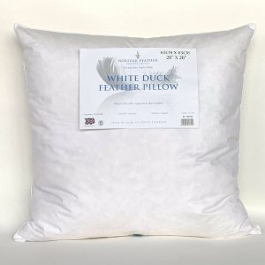 Norfolk Feather White Duck Feather Continental Pillow