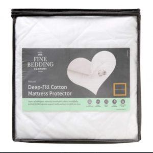 Fine Bedding Company Deep Fill Cotton Mattress Protector