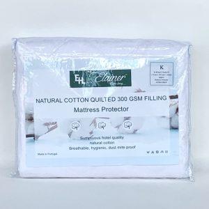 Elainer Natural Cotton Mattress Protector 200GSM Filling