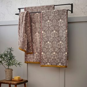 Mulberry Red Crown Imperial Luxury Towels by William Morris