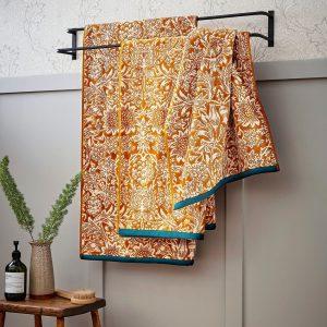 Saffron Yellow Sunflower Luxury Towels by William Morris